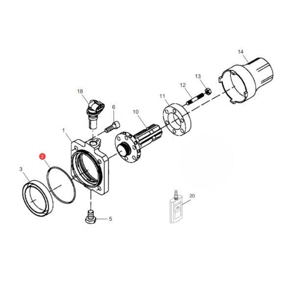 Pierścień oring Massey Ferguson X548994700000 Oryginał Katalog