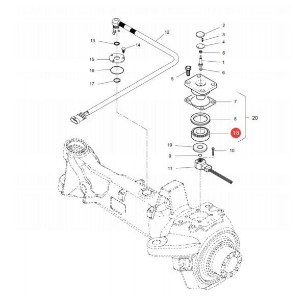 Łożysko stożkowe Massey Ferguson X619066600000 Oryginał Katalog