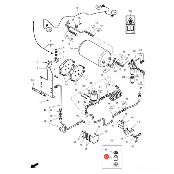 X820215001020 pojemnik plastikowy katalog 600x600 - Zbiornik plastikowy płynu Massey Ferguson X820215001020 Oryginał