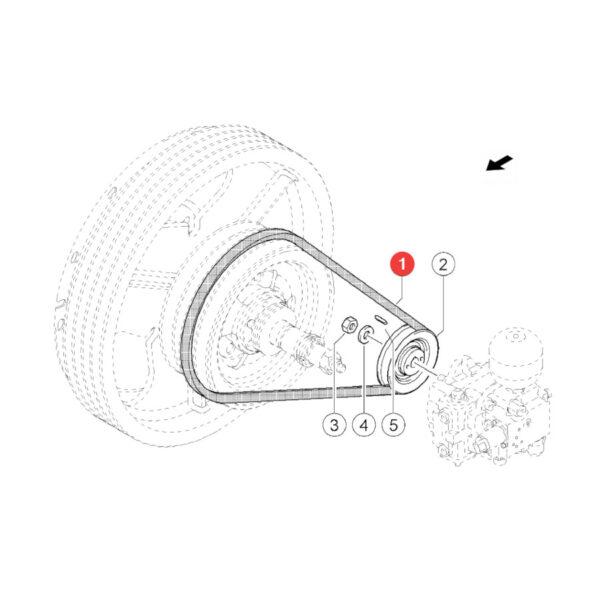 Pasek klinowy Gates 0201108 Katalog