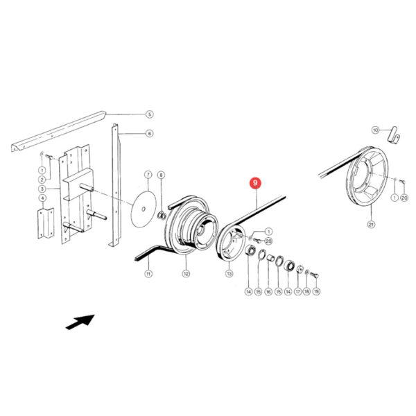 Pasek klinowy Gates 1402336D Katalog
