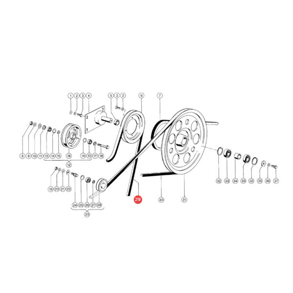 Pasek klinowy Gates 1402436D Katalog
