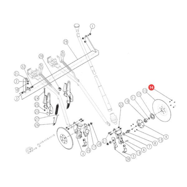 Śruba mocowanie redlicy talerzowej Sulky 555652 Katalog
