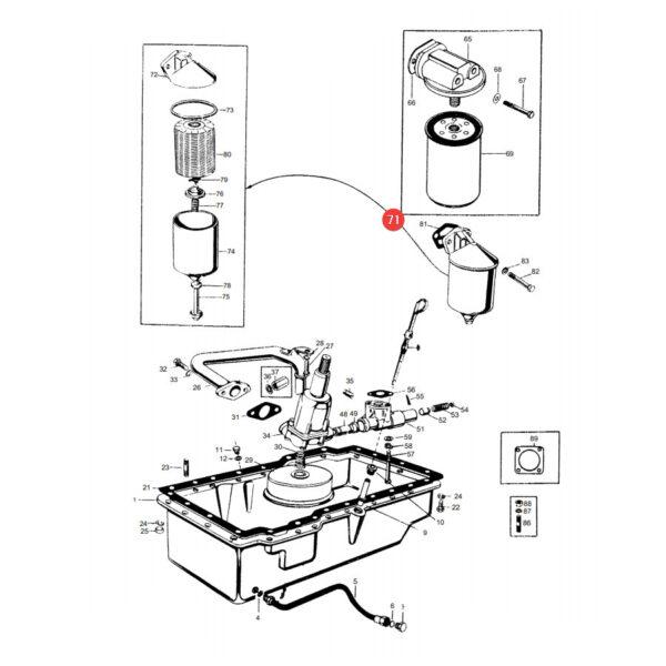 Filtr oleju silnika Mann Filter H1038X Katalog