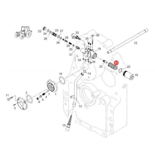 Filtr oleju hydrauliki WOM SF HY10208 Katalog