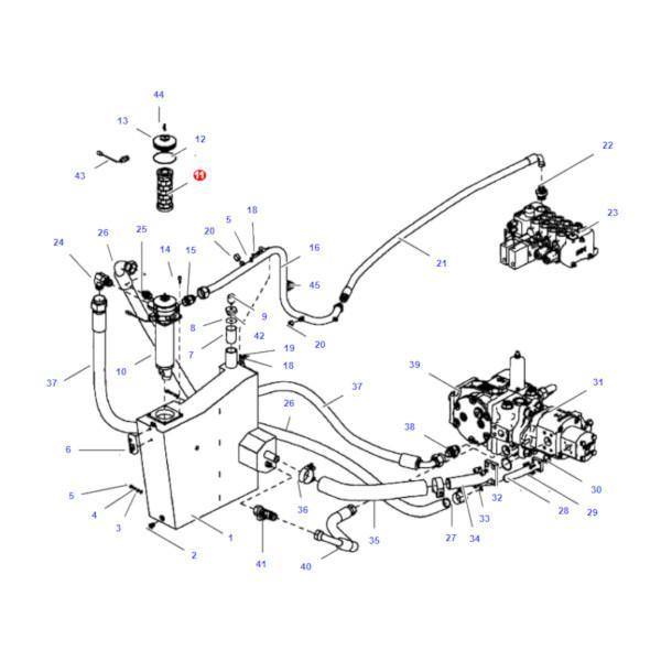 Filtr oleju hydrauliki SF HY13506 Katalog