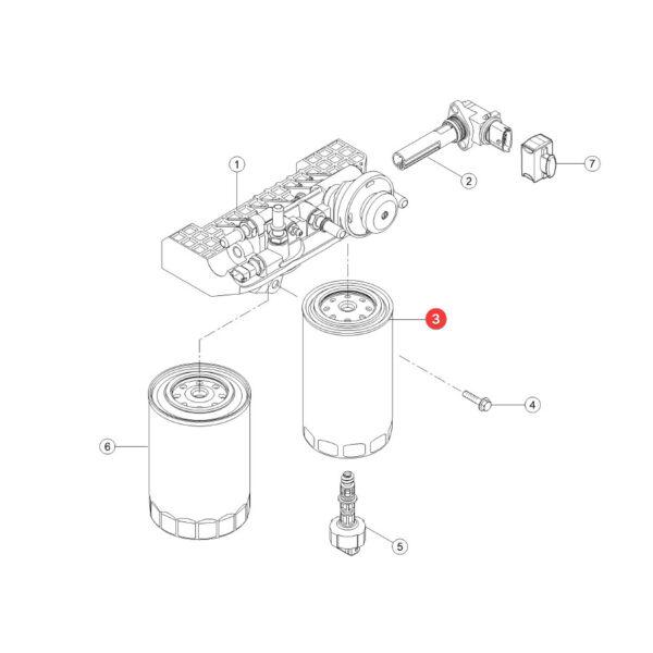 Filtr paliwa Donaldson P550904 Katalog