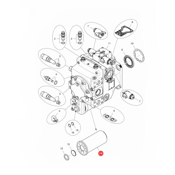 Filtr hydrauliczny Donaldson P569401 Katalog
