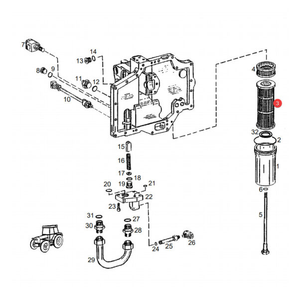 Filtr hydrauliki Donaldson P766070 Katalog