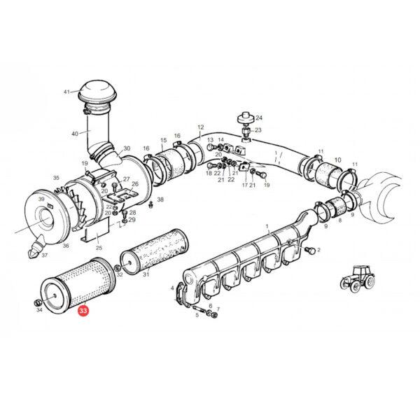 Filtr powietrza zewnętrzny Donaldson P771508 Katalog
