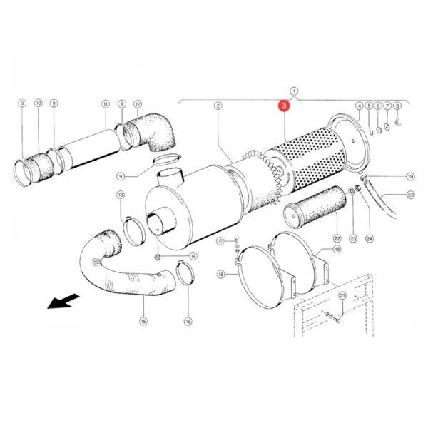 Filtr powietrza zewnętrzny Donaldson P771558 Katalog