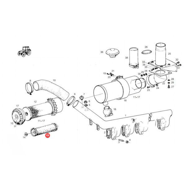 Filtr powietrza wewnętrzny Donaldson P776694 Katalog