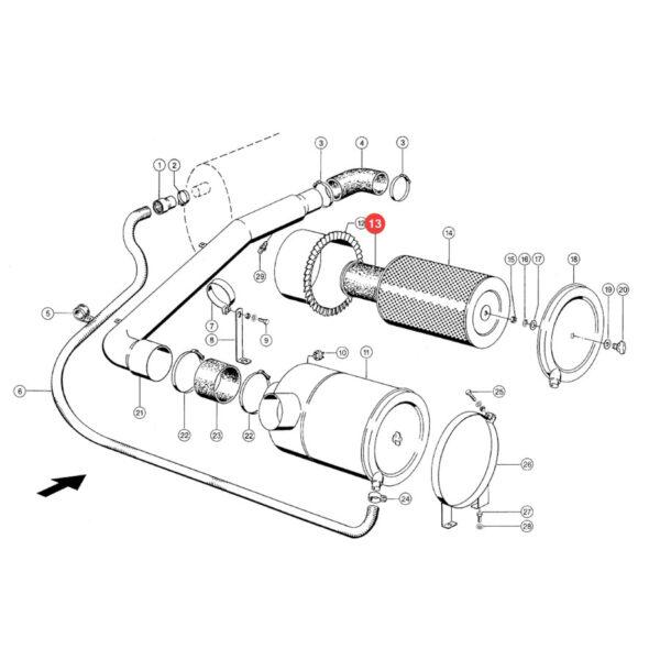 Filtr powietrza wewnętrzny Donaldson P777551 Katalog