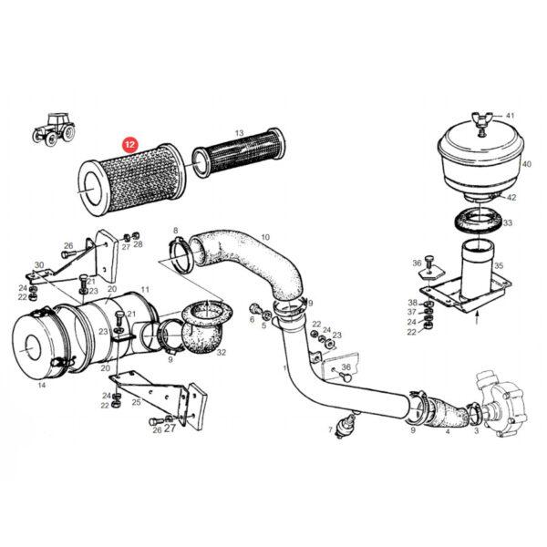 Filtr powietrza zewnętrzny Donaldson P777578 Katalog