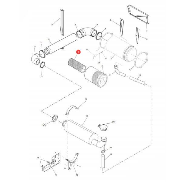Filtr powietrza wewnętrzny Donaldson P777875 Katalog