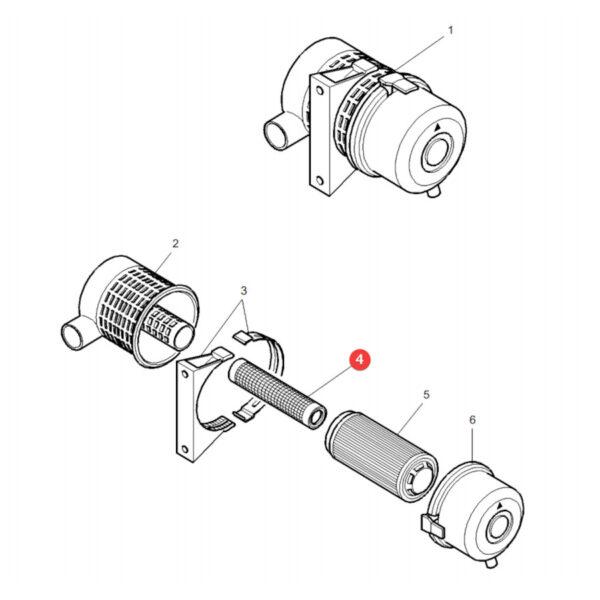 Filtr powietrza wewnętrzny Donaldson P782107 Katalog