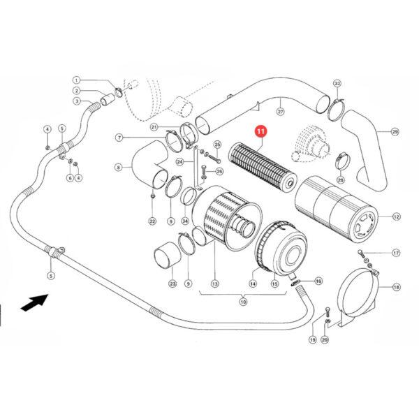 Filtr powietrza wewnętrzny Donaldson P782109 Katalog