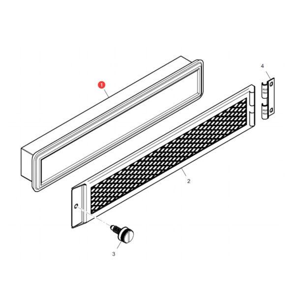 Filtr powietrza kabiny Hifi Filter SC60114 Katalog