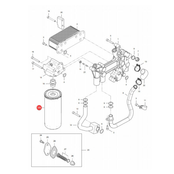 Filtr oleju silnika Donaldson P764448 Katalog