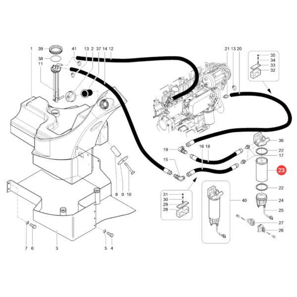 Filtr paliwa Mann Filter WK1080/7X Katalog