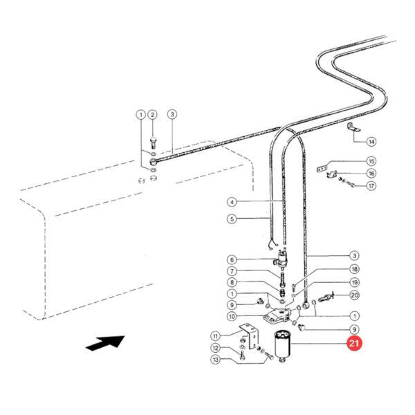 Filtr paliwa Mann Filter WK842/6 Katalog